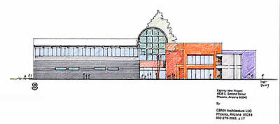 The Espiritu Charter School Campus sketch elevations represent the school's second major expansion project in the school's history.
